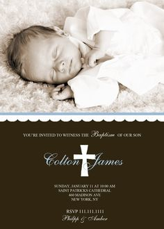 Items similar to Baptism Invitation - Cross on Etsy Christening Invitations, Christening Gowns, Baptism Announcement, Baby Blessing, Baptism Party, Paper Book, Second Baby, First Communion, Youre Invited