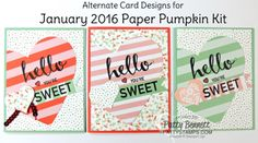 Paper Pumpkin Special and January Alternate Designs (Patty's Stamping Spot)