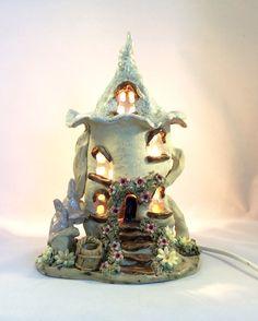 Fairy house lamp nursery lamp child's lamp by Sallyamoss on Etsy