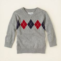 baby boy - sweaters - argyle v-neck sweater | Children's Clothing | Kids Clothes | The Children's Place