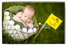 #photographyprops - golf, golf balls, golf ball basket, flag & green blanket. Adorable!