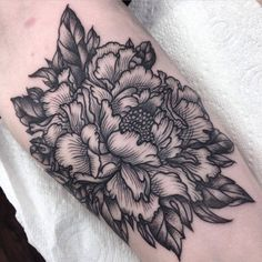 Image result for black and grey flower tattoos