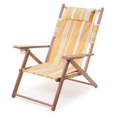 Meet our practical yet beautiful TOMMY chair, designed to bring all the style and comfort you could want to the beach on your back! This 3 position reclining beach chair with large back zip pocket, armrests and soft touch outdoor canvas sling all folds up into a back pack. Beach Tent, Beach Umbrella, Deck Chairs, Outdoor Chairs, Outdoor Decor, Outdoor Ideas, Sun Shop, Stainless Steel Fittings, Natural Wood Finish
