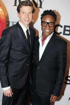It's KINKY BOOTS stars Stark Sands and Billy Porter! Stark is wearing a Diesel tux and Porter is in a tux by Wooyoungmi.