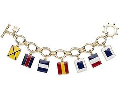 Nice! Reminds me of the flags at my wedding reception! Sperry Top-Sider Nautical Flag Charm Bracelet
