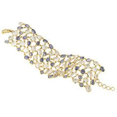 A Sapphire, Rock Crystal and Gold Bracelet by Monica Rich Kosann