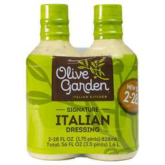 Olive Garden Signature Italian Dressing, 28 fl oz, Makes a lightly creamy and crisp tasting salad Good as a dip for vegetables Makes an excellent garlic bread base Italian Salad, Italian Dressing, Pork Jerky, Vegetable Dips, Tea Cup Poodle, Kitchen Appliance Packages, Italian Spices, Raw Food Recipes, Freezer Recipes