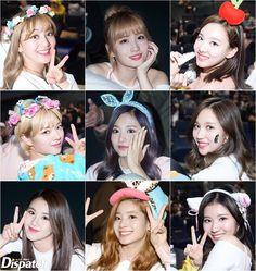 'Cute babies' TWICE. They're the top stars. They have all the looks and skills. And their love for fans is huge. They make eye contact with the fans every time and shows aekgyo for bonus.