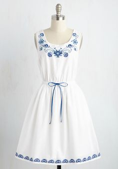 Made to Embroider Dress, @ModCloth