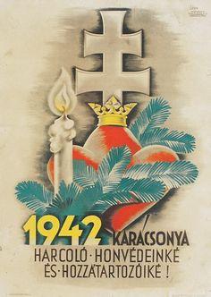 """Karácsony 1942-ben… Légrády Sándort a legsikeresebb magyar bélyegtervezőként tartjuk számon, az 1930-as évek óta tervezett a posta számára, és haláláig, 1987-ig folyamatosan dolgozott.A negyvenes években működött sikeres plakáttervezőként, a háború alatt is folyamatosan alkotott. A háborús években több katonaságot és magyar hősiességet hirdető plakátot tervezett, köztük az egyik legismertebb a""""Benne bízzatok"""" feliratú, 1943-as darab. A most aukcióra kerülő plakát szintén a harcoló ..."""