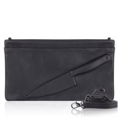 Vlieger & Vandam Bags   Guardian Angel Clutch Knife Black   Amsterdam - Vlieger & Vandam