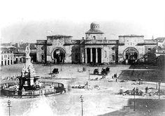 1855, Porta del Mar amb la font del Geni Català, BCN