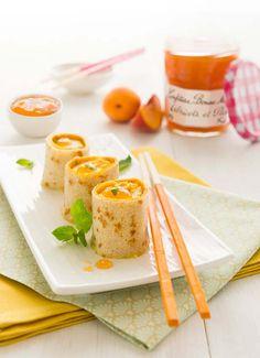 Makis de crêpes à la Confiture Abricots-Pêches Bonne Maman®: photo de la recette