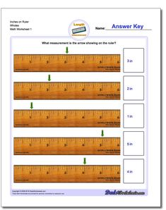 Inches Measurement Worksheet! Inches Measurement