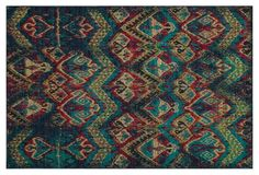 "9'10""x12'6"" Robin Rug, Blue/Multi"
