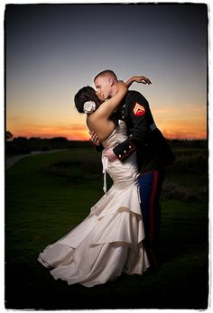 hugoxhdz | DSC_9165 copy 2 | wedding bride groom + military + sunset
