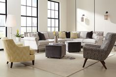 Bright and sunny eclectic living room! #sofa #sectional #livingroom
