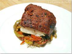 Dos de Cabillaud en Croûte de Tomates séchées Salmon Burgers, Ethnic Recipes, Food, Dried Tomatoes, Pisces, Dish, Recipes, Essen, Eten
