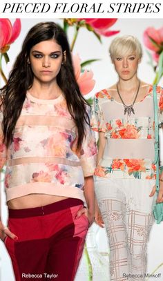 Trend floral stripes - look out for the Verge Shell top arriving in October 2014 Fashion Trends, 2014 Trends, Spring Summer Trends, Spring Summer Fashion, Spring 2014, Summer 2014, Trend Council, Floral Stripe, Paris