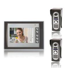 7 Inch Video Door Phone Doorbell Intercom Kit With Vision
