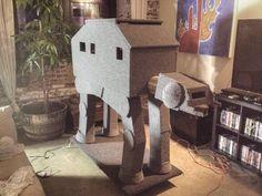 HOWTO make a CAT-AT Star Wars cat-condo