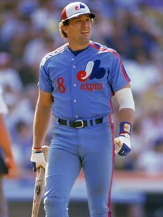 """Gary """"The Kid"""" Carter caught for the Montreal Expos from 1974 to 1984 and again in The All-Star was inducted to the Baseball Hall of Fame in Expos Baseball, Sports Baseball, Baseball Jerseys, Football, Sports Jerseys, Of Montreal, Expos Montreal, Famous Baseball Players, Gary Carter"""