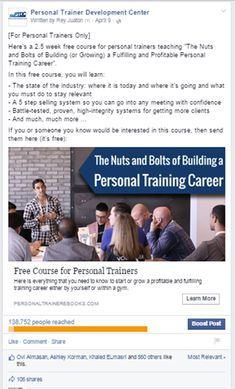 What Every Personal Trainer Ought to Know About Facebook Advertising