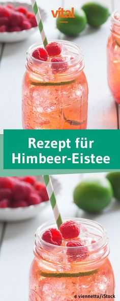 Gesunden Eistee selber machen Making fresh, healthy iced tea yourself – that's easy! Try our recipe for this low calorie raspberry iced tea! The Red Tea Detox Green tea has long been acknowledged for its[. Menu Detox, Easy Detox Cleanse, Detox Tea, Detox Drinks, Smoothies For Kids, Healthy Smoothies, Healthy Drinks, Smoothie Recipes, Raspberry Iced Tea