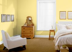 This is the project I created on Behr.com. I used these colors: BICYCLE YELLOW(370A-3),POPPED CORN(W-B-200), Tyler's room