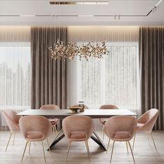 Home Room Design, Dining Room Design, Interior Design Living Room, House Design, Table Design, Luxury Interior Design, Elegant Dining Room, Luxury Dining Room, Home Living Room