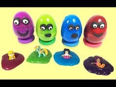 Surprise Eggs Toys with Clay Slime Play Doh Eggs Surprise Play Doh And S...