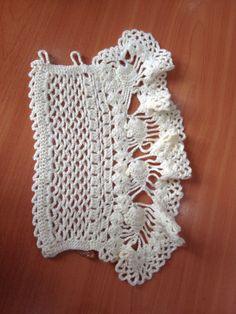 Crochet Necklace Pattern, Crochet Gloves Pattern, Crochet Lace Edging, Crochet Poncho Patterns, Crochet Mittens, Crochet Bracelet, Freeform Crochet, Lace Patterns, Cute Crochet