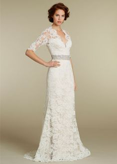 Lace. This might be one of the most beautiful lace gowns I've seen yet!