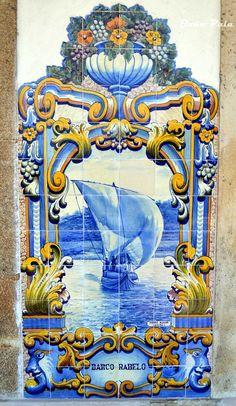 BARCO RABELO  Painel de azulejos da Estação do Pinhão