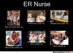 ER Nurse... - What people think I do, what I really do - Perception Vs Fact