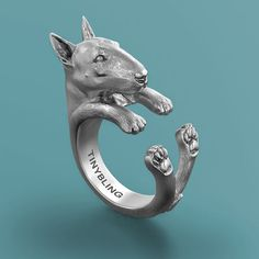 Bull Terrier Breed Jewelry Cuddle Wrap Ring