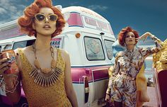 Rachel Rutt and Seon Model Sweet Fashions for Harpers Bazaar China by Shxpir | Fashion Gone Rogue: The Latest in Editorials and Campaigns
