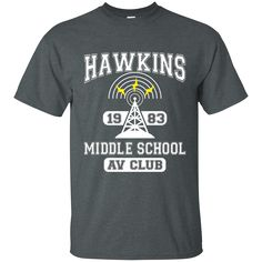 Stranger Things - Hawkins Middle School A. Club Cotton T-Shirt School Shirts, The Middle, School Outfits, Stranger Things, Middle School, Size Chart, Digital Prints, Unisex, Club