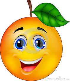 Illustration about Illustration of funny orange cartoon character. Illustration of face, character, optimistic - 28524310 Funny Fruit, Cute Fruit, Art Drawings For Kids, Cartoon Drawings, Emoji Craft, Funny Emoji Faces, Fruit Cartoon, Food Poster Design, Art Mural