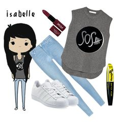 """""""Isabelle"""" by eplay1962 ❤ liked on Polyvore featuring xO Design, 7 For All Mankind, Alexander Wang, adidas Originals, NYX, L'Oréal Paris, women's clothing, women's fashion, women and female"""