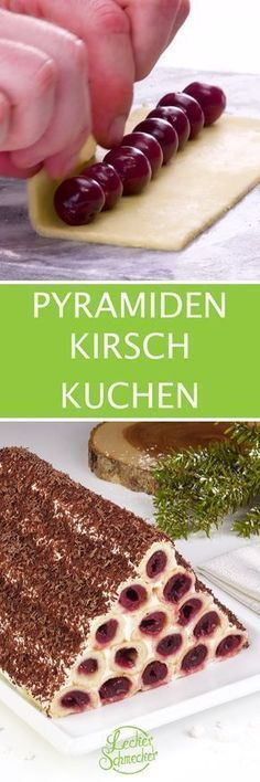 Cherry cake with a difference - with this pyramid you are .- Kirsch Kuchen mal ganz anders – mit dieser Pyramide bist du der Star am Kuchen… Cherry cake with a difference – with this pyramid you are the star of the cake buffet! Cake Cookies, Cupcake Cakes, Cookie Recipes, Dessert Recipes, Dessert Original, Cherry Cake, Icebox Cake, Cakes And More, Sweet Recipes