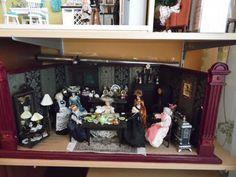 Puppenstube, Gottschalk , Gründerzeit-Möbel, Hobbyaufgabe, Konvolut in…