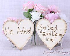 Engagement Photos Photo Prop signes rustique par braggingbags, $36.50