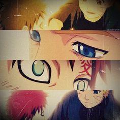 Naruto and Gaara. Naruto is a really great person. He is always reaching out for those who are trapped in the darkness. Naruto Gaara, Anime Naruto, Itachi, Hinata, Gara Naruto, 5 Anime, Sarada Uchiha, Shikamaru, Boruto