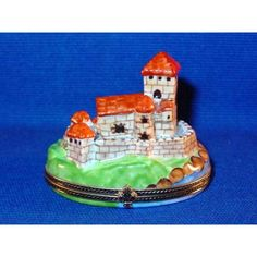 FORTIFIED CITY Porcelain Limoges Box -Limoges Import Boxes-Travel