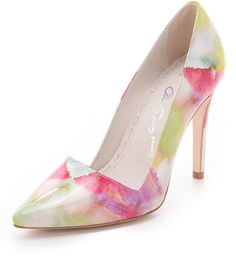 ALICE + OLIVIA  Pink Dina Watercolor Pumps