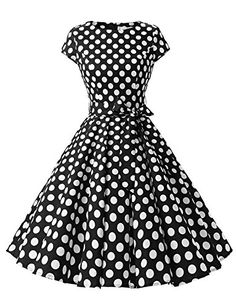 964ac369406b 2018 Elegant Black Dresses O Neck Short Sleeve Robe Gown Big Swing Retro  Casual Party Rockabilly Vintage Women Clothing