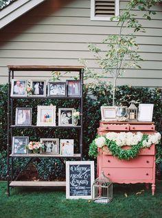 love the bookshelf for family photos (photo by Jessica Burke)