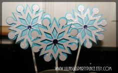 Snowflake Frozen Winter Wonderland by LillabugsPartyPlace on Etsy, $9.50