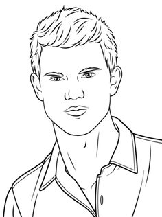 Taylor Lautner Coloring Page Free Printable Coloring Pages